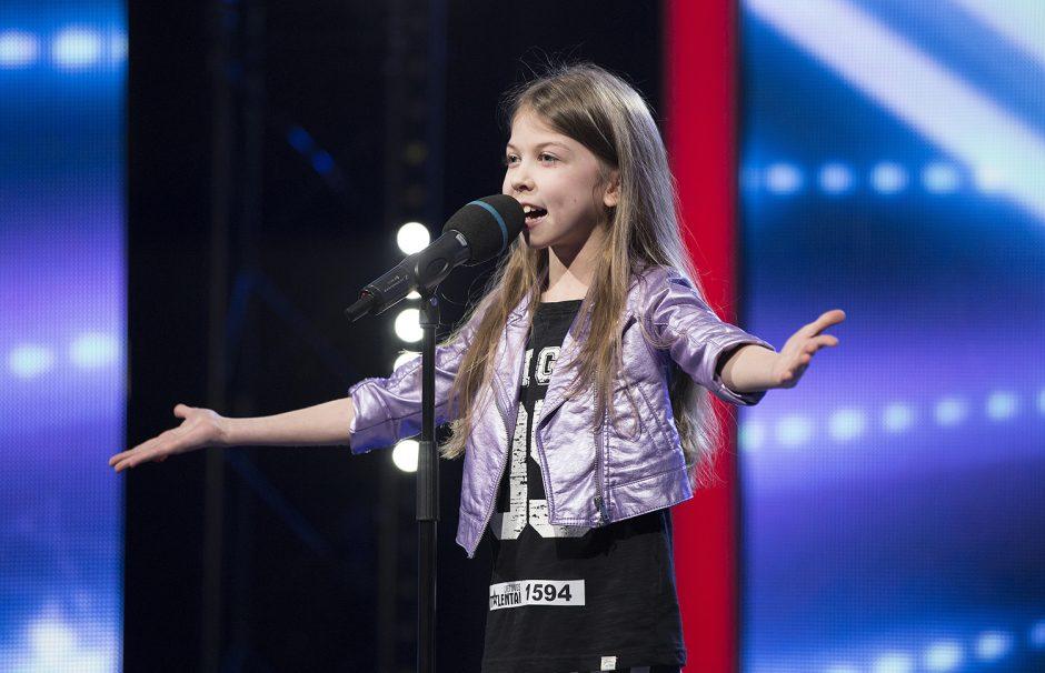 """""""Lietuvos talentuose"""" devynmetė paliko I. Balsytę be amo: aš neturiu žodžių"""