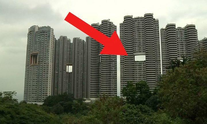 """Honkongo dangoraižiai: kodėl pastatuose projektuojamos """"skylės""""?"""