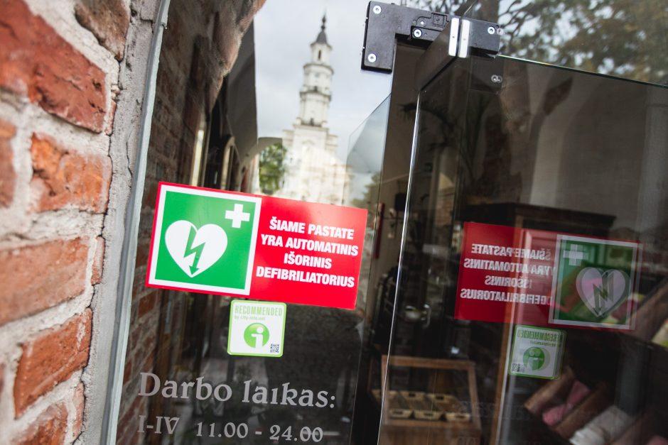 Širdies defibriliatoriai Kaune gelbės gyvybes