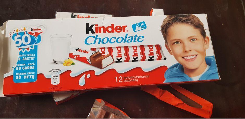 """Po """"Kauno dienos"""" straipsnio uždrausta prekiauti muilo skonio """"Kinder"""" partija"""