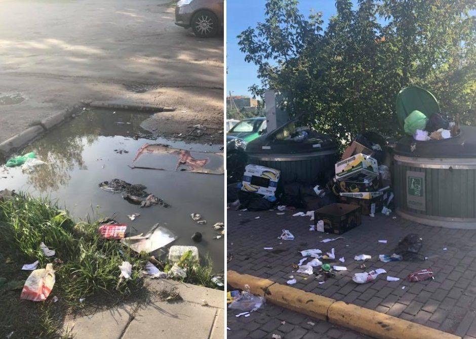"""Rajoną pakrikštijo """"Šiukšliškėmis"""": iš konteinerių virstančios atliekos pūva balose"""