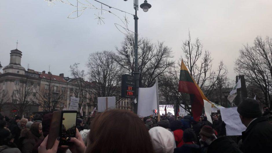 """Protestas """"Paskutinis skambutis"""""""