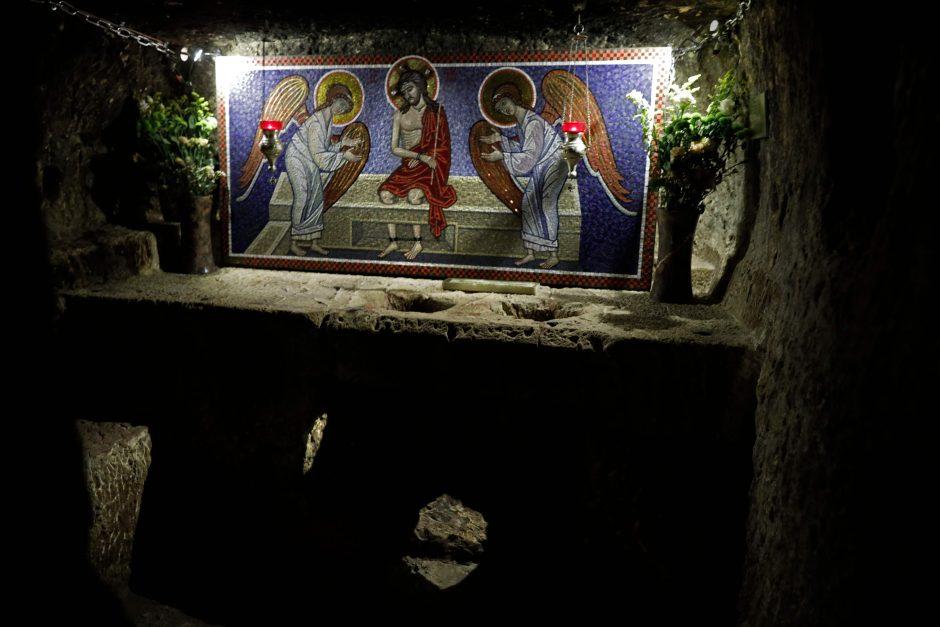 Jeruzalės Šv. Kapo bazilikoje po remonto atidaryta Kristaus kalėjimo koplyčia