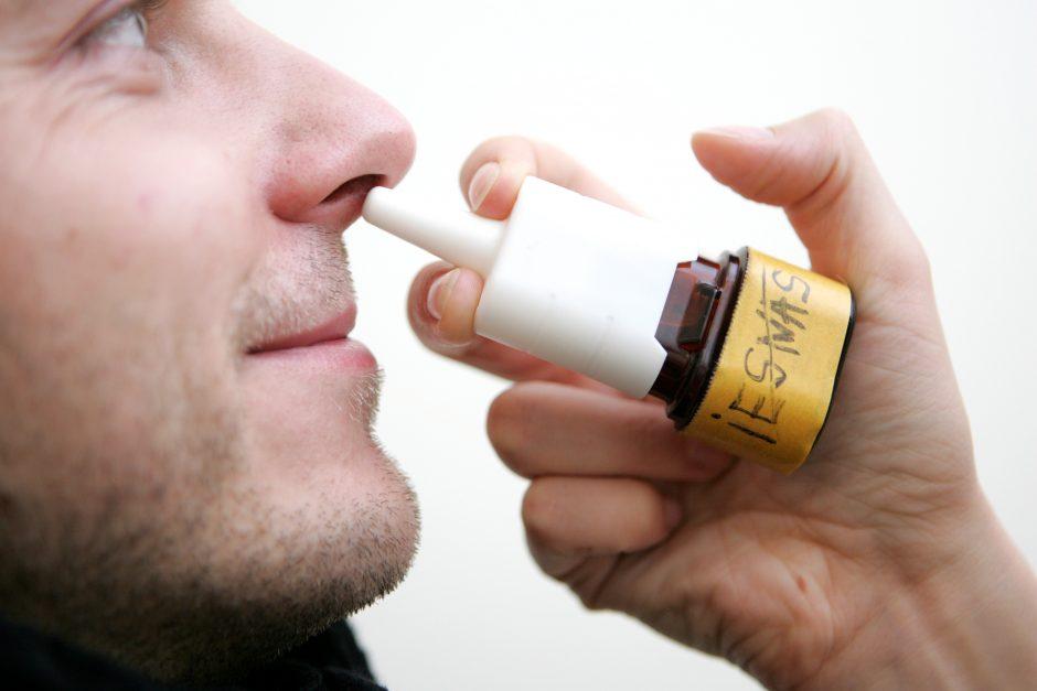 Specialistė: nosies purškalai gali sukelti priklausomybę