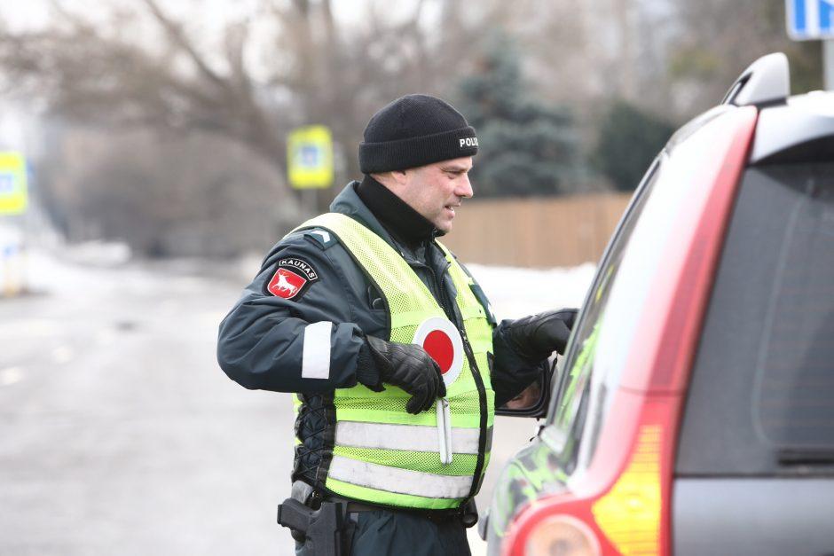 Kauno gatvėse – policininkų reidas