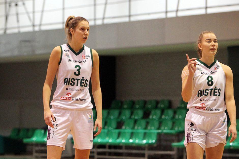 """""""Aisčių-LSMU"""" krepšininkės iškovojo pergalę Rygoje"""