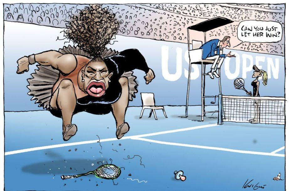 Australų karikatūrininkas kritikuojamas dėl S. Williams vaizduojančio piešinio