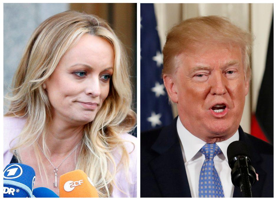 Pareigūnai sulaikė aktorę, kuri teigia turėjusi intymių ryšių su D. Trumpu