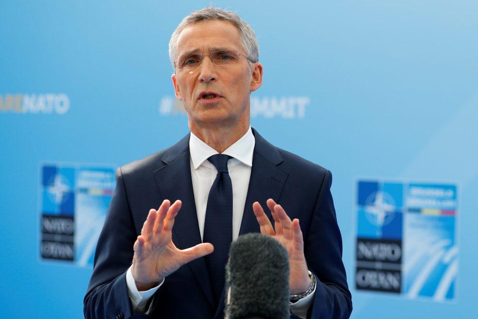 """NATO sekretorius: Aljansas negali priimti sprendimų dėl """"Šiaurės srauto 2"""""""