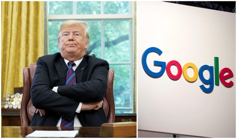 """D. Trumpas teigia, kad """"Google"""" tyčia rodo jam nepalankius paieškos rezultatus"""
