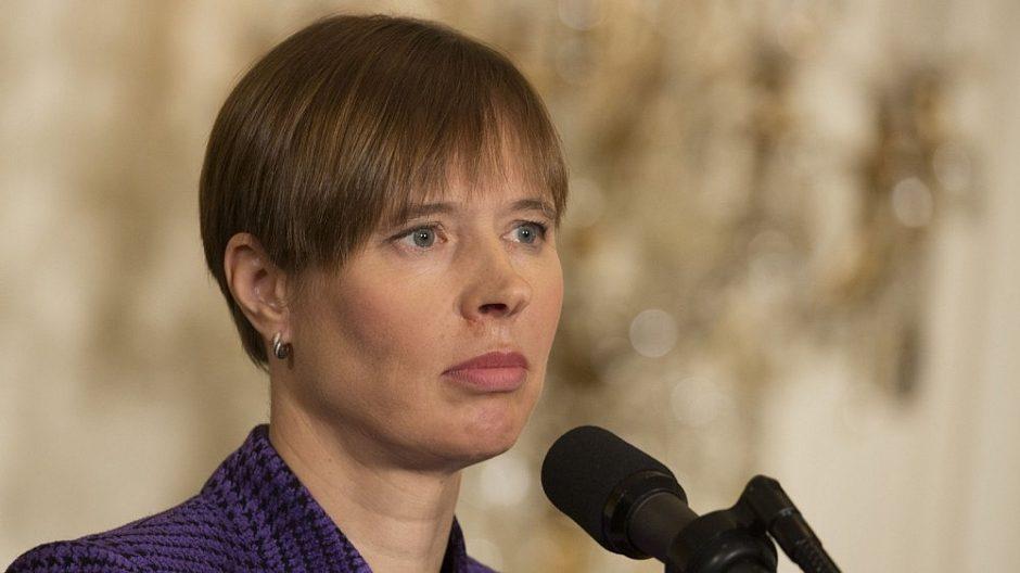 Estijos prezidentė perspėja Europą nepriprasti prie karo Rytų Ukrainoje