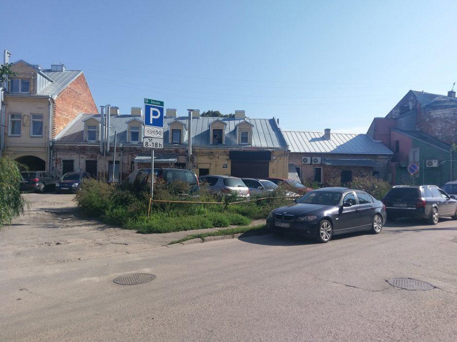 Užkliuvo apmokestinta aikštelė Kaune: aplink vien žolės ir krūmai