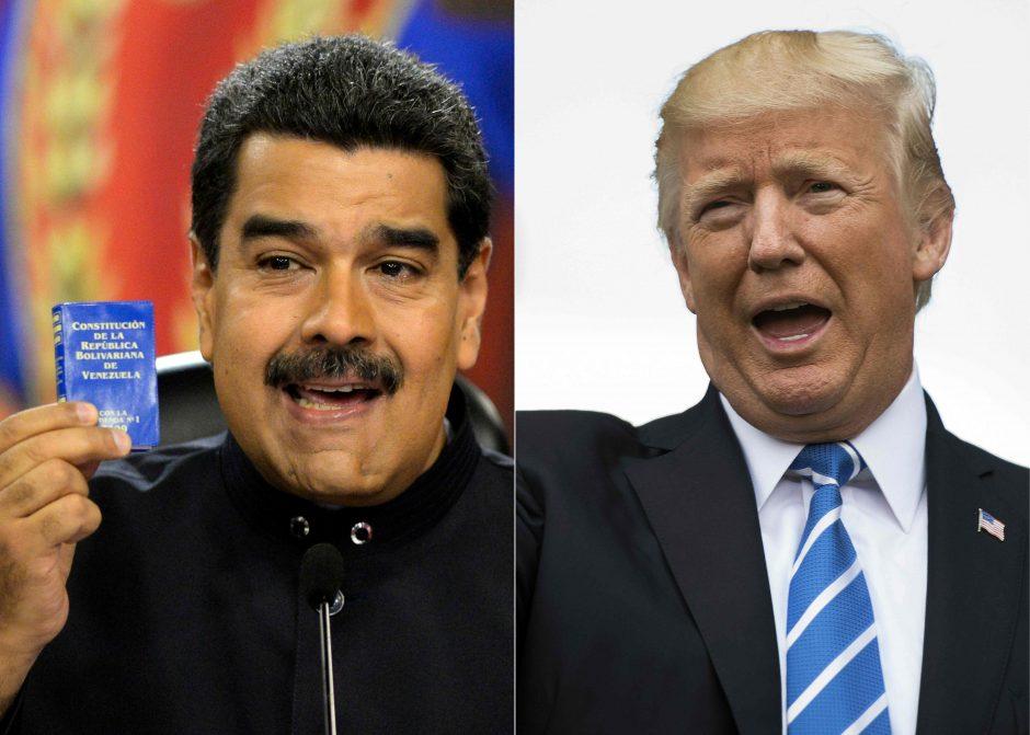 JAV lyderis: dėl demokratijos Venesueloje galimas ir karinis įsikišimas