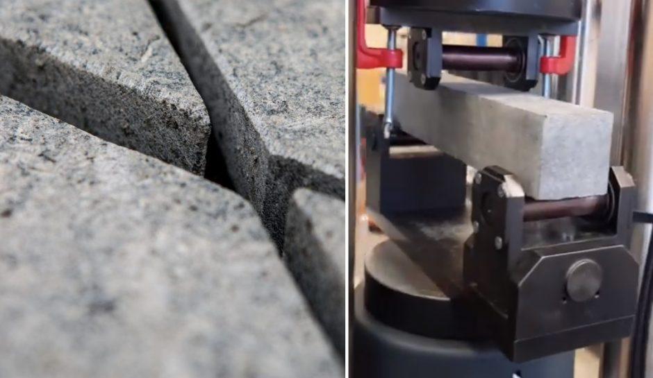Laisvės alėjos granitas išbandomas ekstremaliais būdais (vaizdo įrašas)