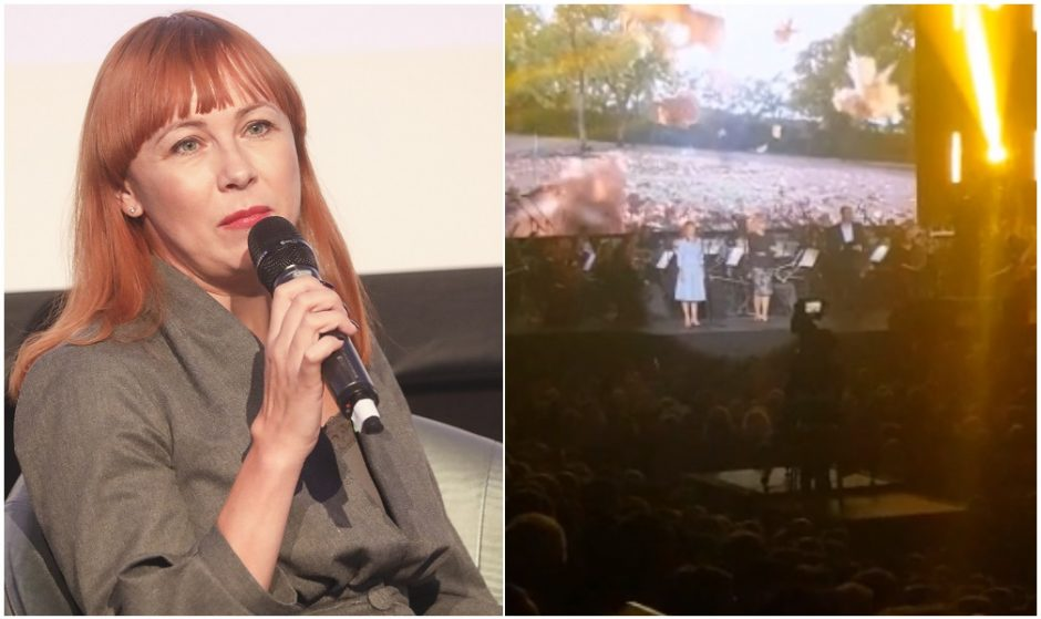"""Mokytojų spjūvis švietimo ministrei: nušvilpė """"Žalgirio"""" arenoje (vaizdo įrašas)"""