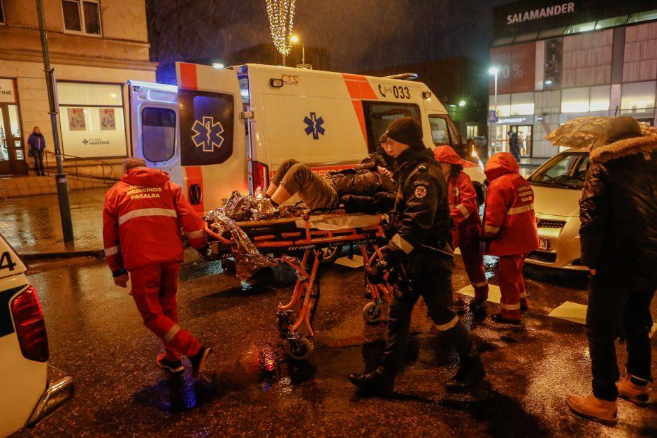 Vilniuje partrenktas perėja ėjęs jaunuolis