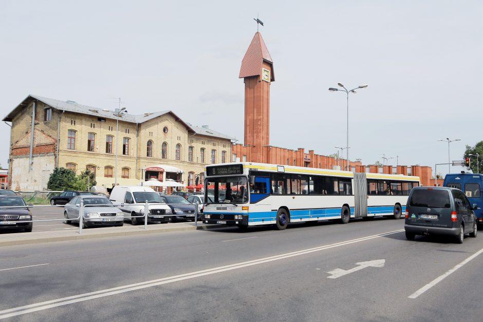 Autobuso grafikas - pagal traukinį