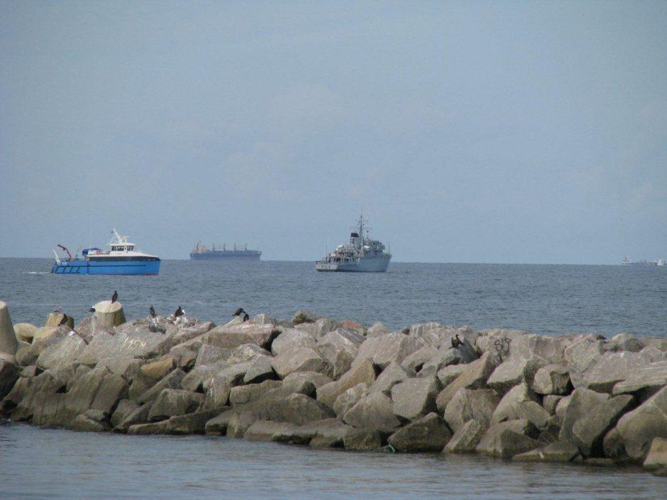 Kariškiai pateikė pirmuosius išminavimo operacijos jūroje rezultatus
