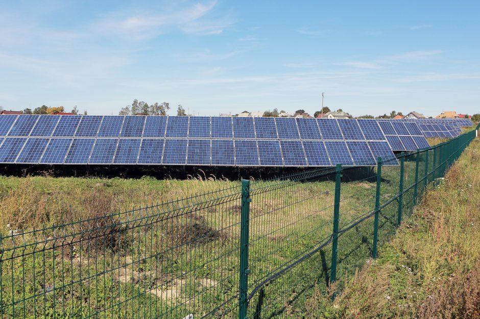 Netoli Klaipėdos apvogtas saulės baterijų parkas
