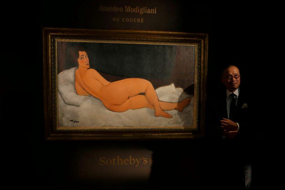 A. Modigliani paveikslas aukcione nupirktas už 157 mln. dolerių