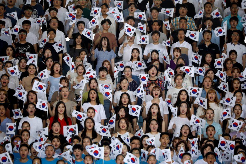 Prezidentė ir premjeras pasveikino Korėją nacionalinės šventės proga
