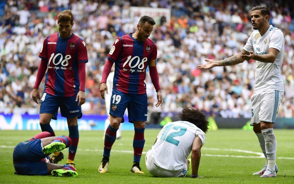 """Madrido """"Real"""" vėl barsto taškus – nesugebėjo įveikti """"Levante"""""""