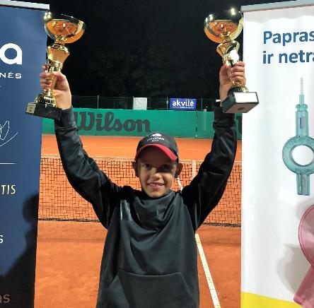 Jaunasis klaipėdietis triumfavo teniso turnyre