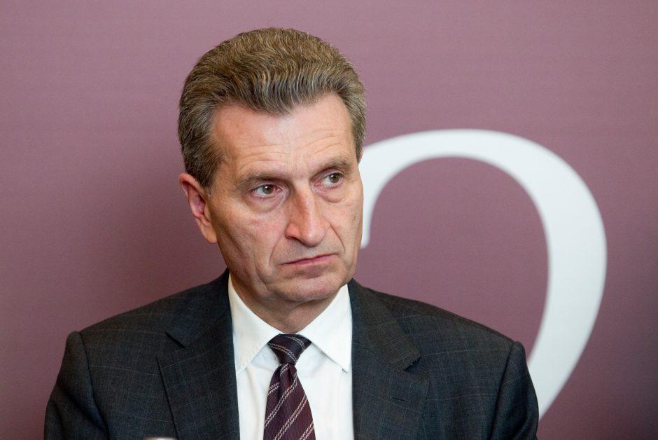 Vilniuje lankysis energetikos eurokomisaras G. Oettingeris