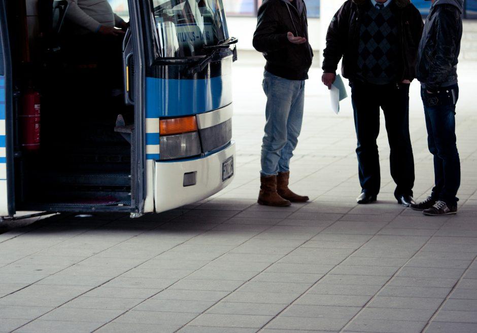 Parengtas turistinių autobusų stovėjimo vietų Vilniuje žemėlapis