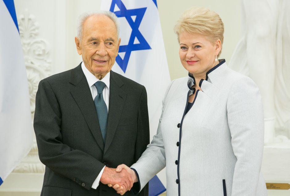 Izraelio prezidentas: R. Meilutytė ir D. Grybauskaitė įrodo, kad ateitis priklauso moterims
