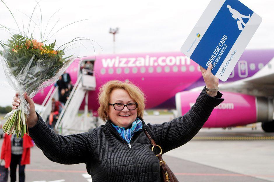 Vilniaus oro uostas šiandien pasitiko dumilijoninę keleivę