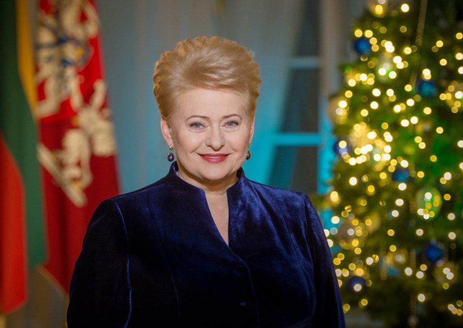 D. Grybauskaitė: visiems linkiu gyvenimo džiaugsmo