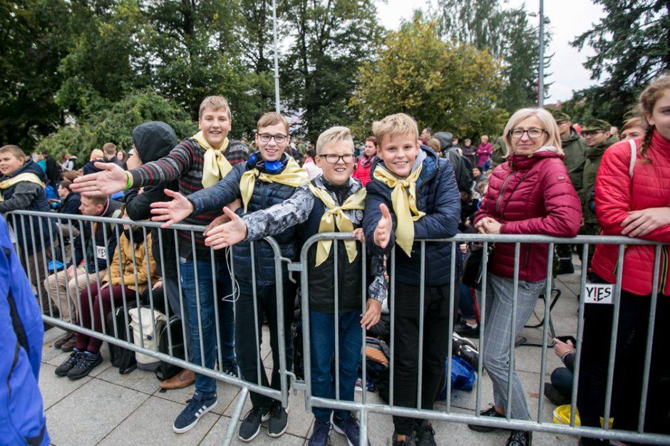 Jaunimas laukia popiežiaus Pranciškaus