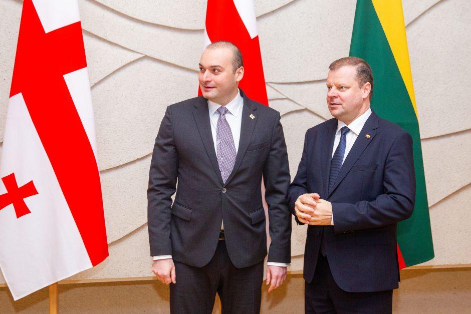 Lietuvos vadovai susitiko su Sakartvelo premjeru