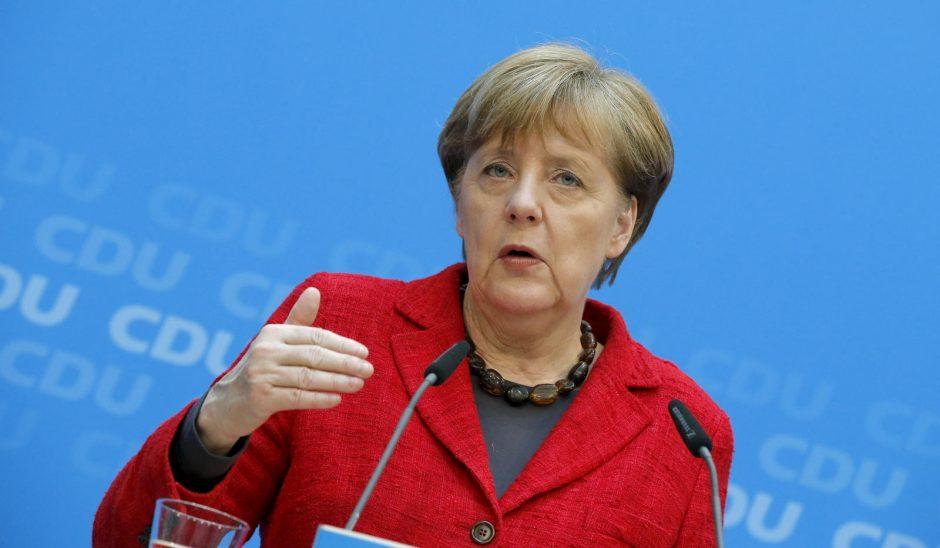 A. Merkel tikisi likti Vokietijos kanclere iki 2021-ųjų