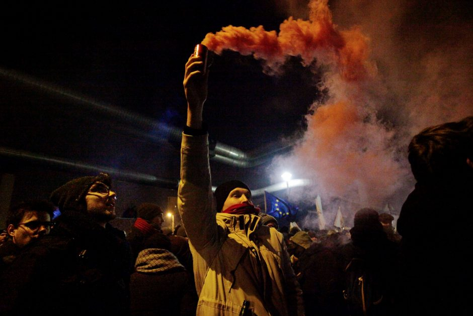 Vengrijos visuomeninį transliuotoją užgriuvo protestų banga
