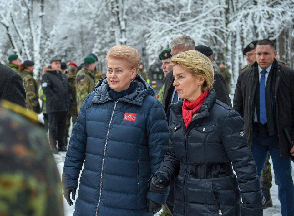 D. Grybauskaitės susitikimas su Vokietijos gynybos ministre
