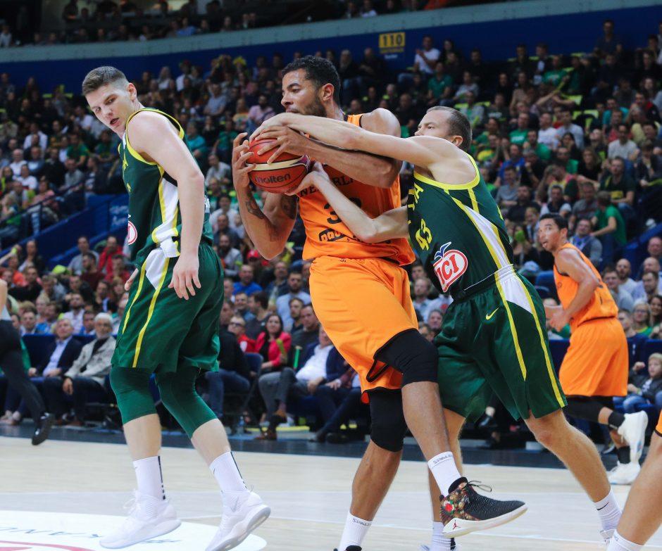 Krepšinis: Lietuva - Olandija 95:93