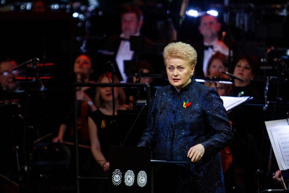 Nacionalinių kultūros ir meno premijų įteikimo ceremonija