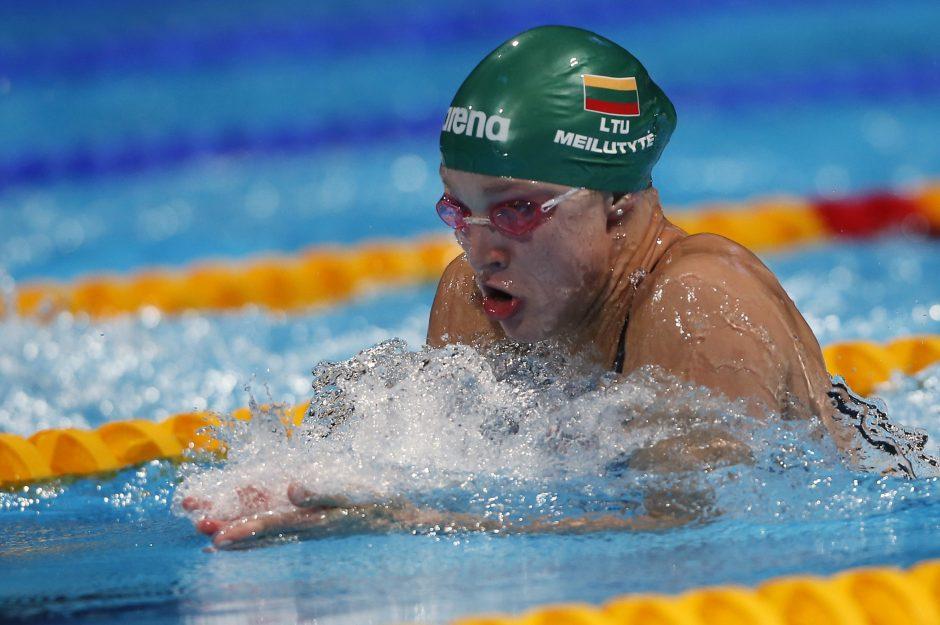 R. Meilutytė pateko į pasaulio jaunimo čempionato finalą 50 m laisvu stiliumi rungtyje