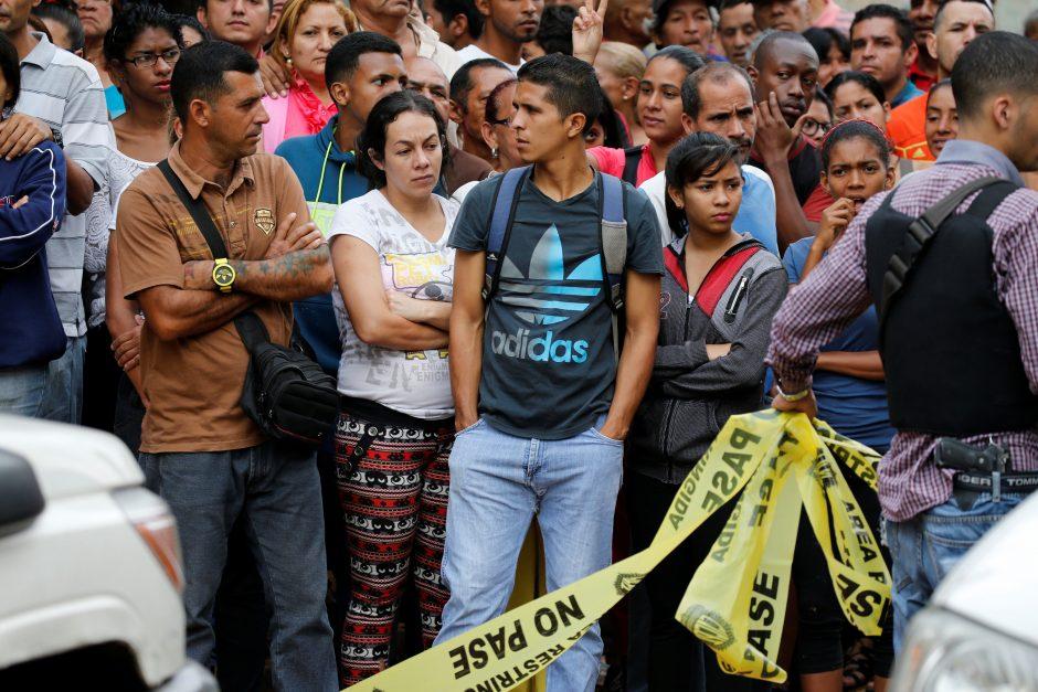 Venesuelos sostinėje per protestą nušautas žmogus