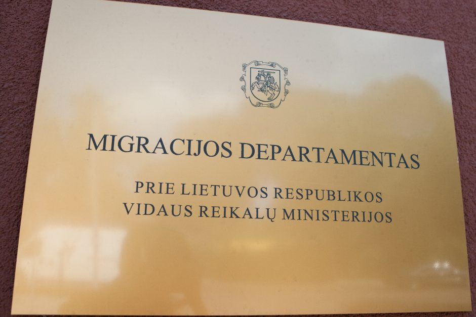 Migracijos departamentas neatskleidė slaptos informacijos rusų teisėjams