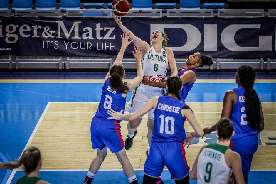 Lietuvių pergalių seriją Europos čempionate nutraukė britės