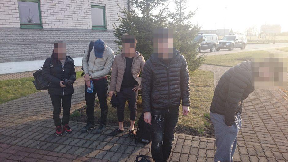 Pasieniečiai sulaikė neteisėtai į Lietuvą atklydusius penkis vietnamiečius ir čečėną