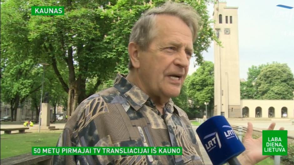 Pirmajai TV transliacijai iš Kauno – 50 metų: gyvai stebėjo minios žmonių