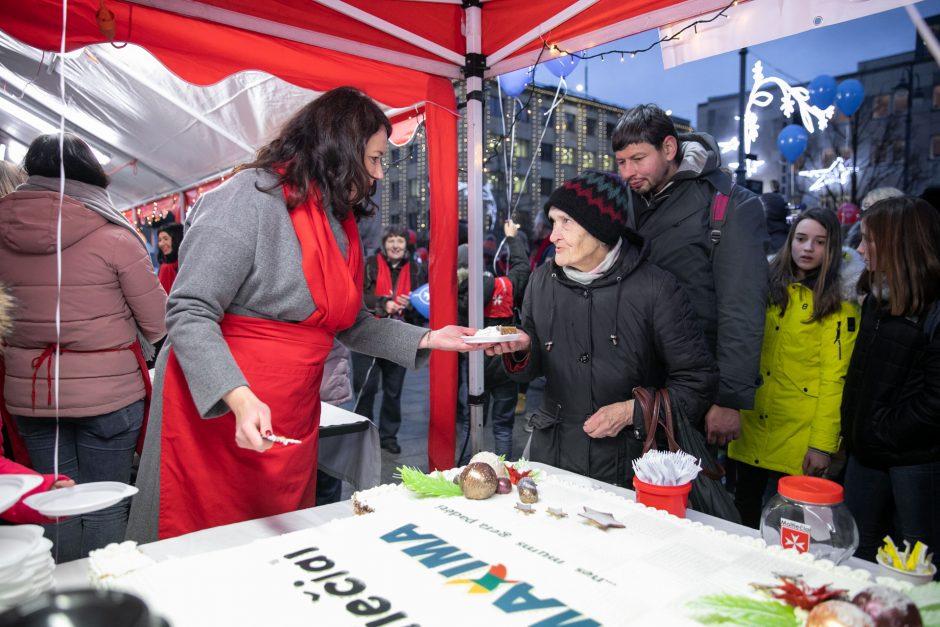 """Maltiečių sriubos"" akcija Vilniuje"