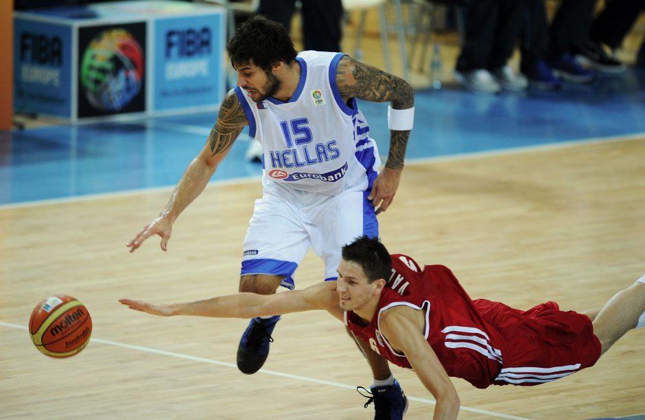 Graikija nugalėjo antrąją nesėkmę patyrusius Rusijos krepšininkus