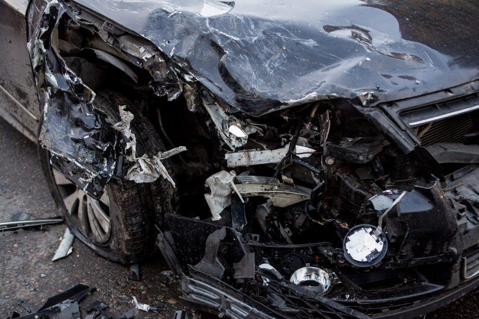 Leidžiantis nuo Aleksoto kalno – masinė avarija