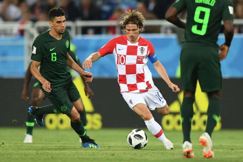 Kroatijos futbolininkai pasaulio čempionatą pradėjo nugalėdami Nigeriją