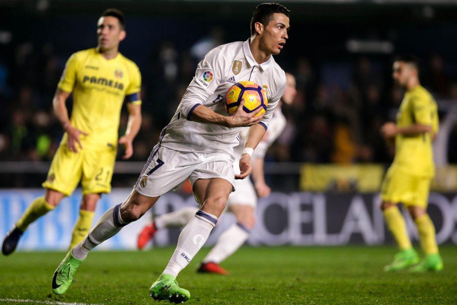 """Ispanijos čempionate C. Ronaldo """"Real"""" išplėšė pergalę"""